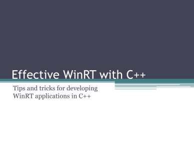 Francisco Almeida - Developing for WinRT with C++