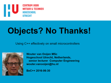 Wouter van Ooijen - Objects? No Thanks!